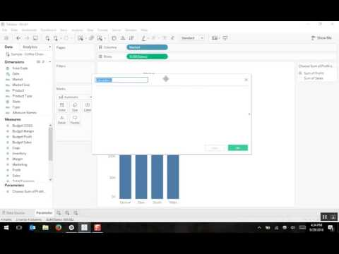 Creating a Parameter in Tableau