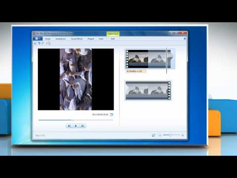 How to rotate a video on Windows® Movie Maker in Windows® 7?