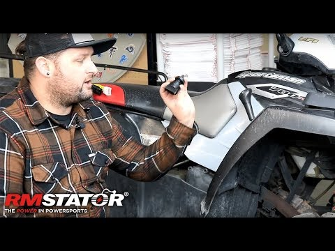 How to install an ignition key switch on a Polaris Sportsman 700 EFI Twin - RMSTATOR RM05019