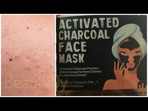 ACTIVATED CHARCOAL FACE MASK for deep cleansing, blackhead remover, pore minimizer & fight acne