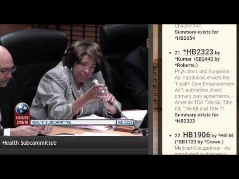 TN Direct Primary Care Bill Debate - Part 2