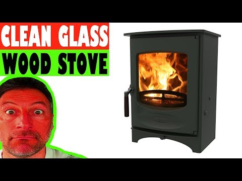 How to clean Woodburner Glass - The Easy Way