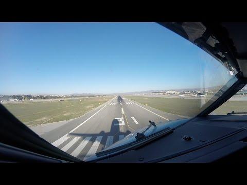 Approach and Landing runway 31 Malaga Airport (AGP LEMG)