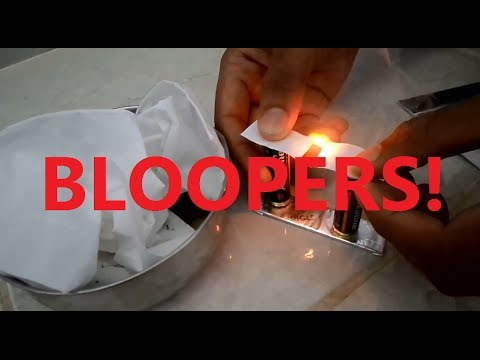 Make a Fire with Battery and Gum Paper (Bloopers)