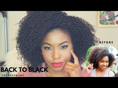 Back 2 Black || How to Dye your Natural Hair and keep your Curls Healthy