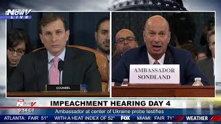 SELECTIVE MEMORY? Sondland Doesn't Recall If President Trump Told Him Anything