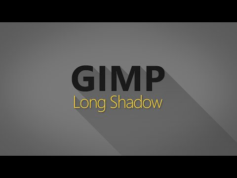How to Make a Flat Long Shadow in GIMP