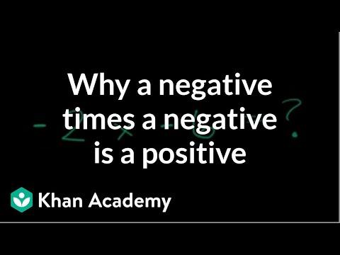 Why a negative times a negative is a positive | Pre-Algebra | Khan Academy