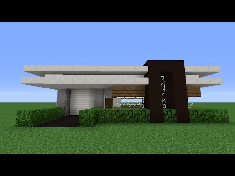 Minecraft: How to Build a Small Modern House (Tutorial #1)