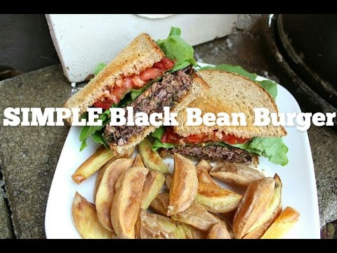 SIMPLE Black Bean Burger Recipe | VEGAN
