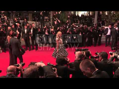 Paris Hilton walking the The Rover red carpet in Cannes