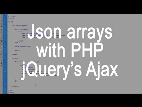 Json arrays and jQuery's Ajax function with PHP for the beginner - Guide