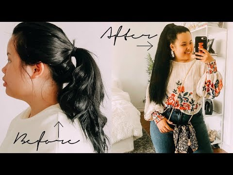 How To: Sleek High Ponytail with Extensions! | Kim Thai