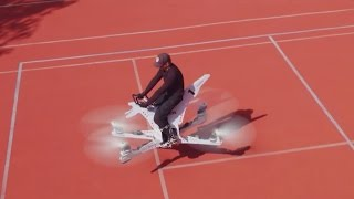 "Incredible drone-powered ""hoverbike"" built by Russians"