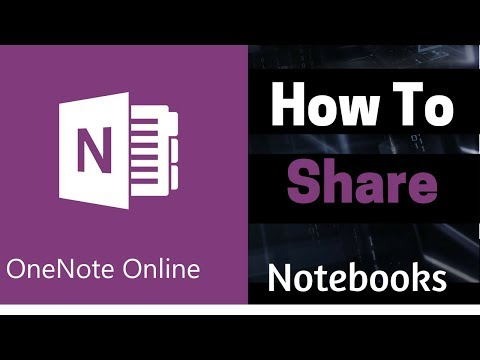 Microsoft OneNote Online Tutorial | How to share a OneNote Notebook With Others