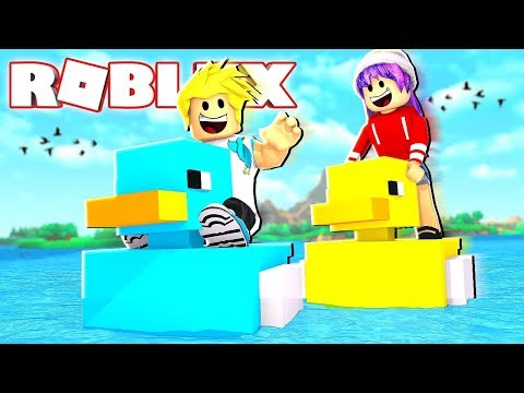 Rubber Duckie Race! Build A Boat to Treasure in Roblox Chad vs. Audrey