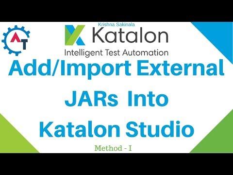 Import External JARs into KATALON STUDIO - Method I