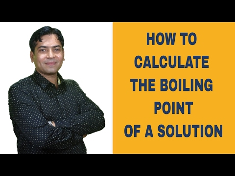 Calculating The Boiling Point Of Solution From Boiling Point Elevation
