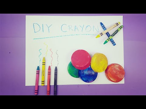 DIY How to Make Crayons From Recycled Crayons | Crayon For Kids 2018