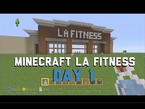 Minecraft, xbox 360, Project LA Fitness Day 1