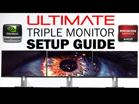 How to Setup Triple/Multiple Monitors