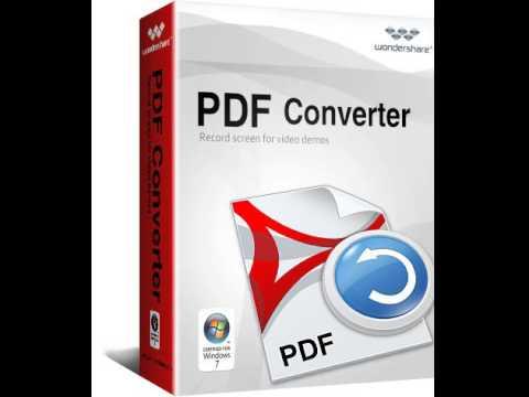 Conviertir archivos pdf Wondershare PDF Converter full
