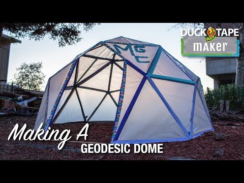 Making a Geodesic Dome with a Duct Tape Engineer