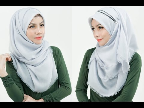 Square Scarf Into Shawl With Headband ( Dauphines Of New York )