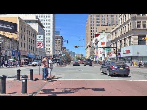 Driving Downtown - Newark's City 4K - New Jersey USA
