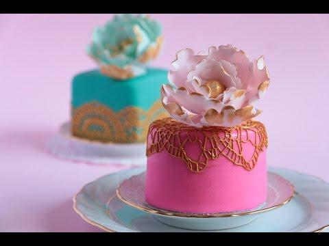How To Make Mini Fondant Cakes- Rosie's Dessert Spot