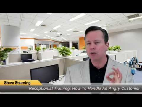 Receptionist Training: How To Handle An Angry Customer