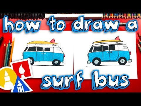 How To Draw A Summer Surf Bus - Replay Live Stream