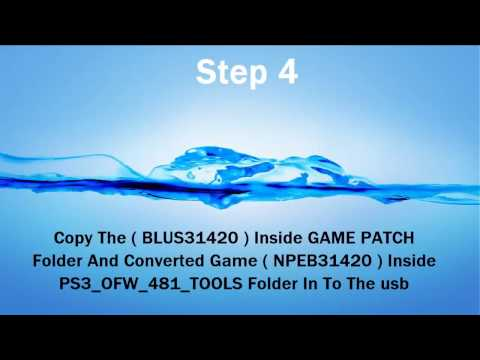 Install games in PS3 OFW 4.81 slim/ultra slim