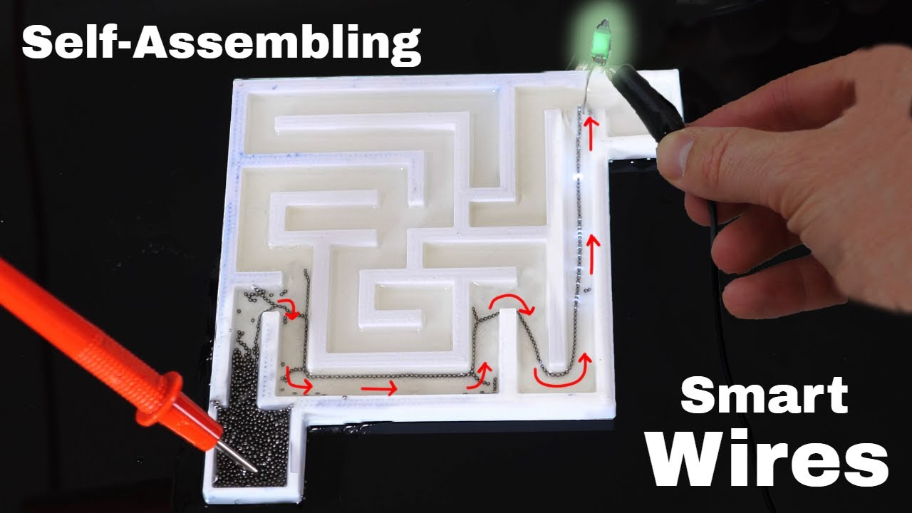 Self-Assembling Wires That Can Solve a Maze!