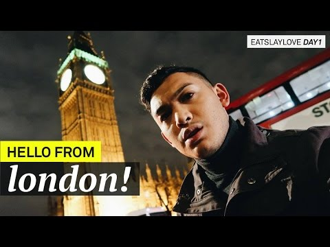 Hello From LONDON!! - EatSlayLove Day 1 - ohitsROME Travel Vlogs