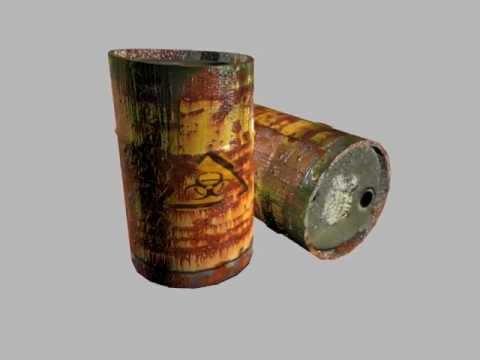 Toxic Barrel Turnaround 3DS Max