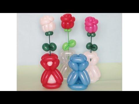 Ваза на 8 Марта из двух шаров / 8 March Vase of balloons