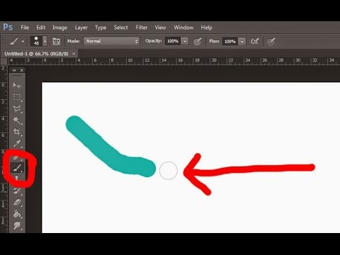 How to Enable Show the Hidden Brush, Pen, Eraser point in Photoshop/Illustrator
