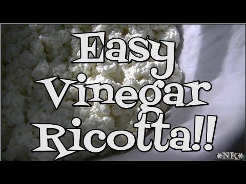 Easy Vinegar Ricotta!! Noreen's Kitchen Basics!
