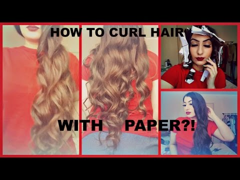Heatless curls using PAPER Hair tutorial | how to curl your hair with paper