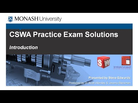 SolidWorks CSWA Practice Exam Solutions Part 1: Introduction