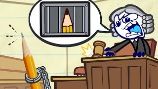 Pencilmate39s STUCK In Court Animated Cartoons Characters Animated Short Films