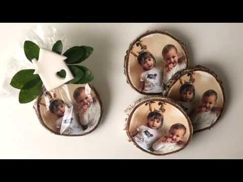 Christmas gift fridge magnet - photo transfer