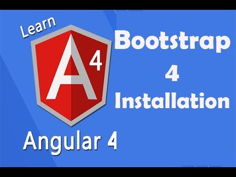 bootstrap 4 installation in angular 4 without CDN | hindi