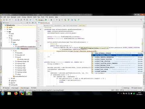 Get Location and City Name in Android Studio