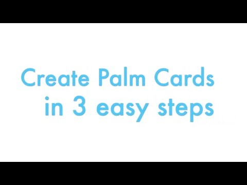 Create Palm Cards for Speeches in 5 Seconds - Easy Palm Cards