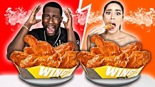 WORLD'S HOTTEST SPICY WING CHALLENGE! (Behold The REAPER!)