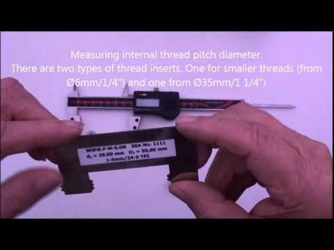 Measuring External & Internal Thread Pitch Diameter