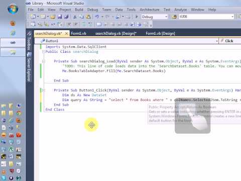 Creating Simple Database Application using VB.NET and SQL Server Part - 2