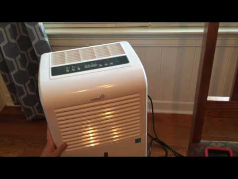 Dehumidifier with awesome capacity up to 4,500 Square Feet! 70 pint size by Ivation